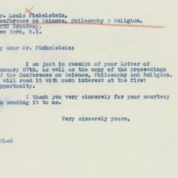 Letter : 1941 February 4
