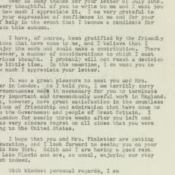 Letter : 1949 July 16