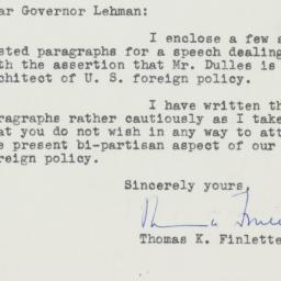 Letter: 1949 October 7
