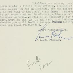 Letter : 1944 January 15