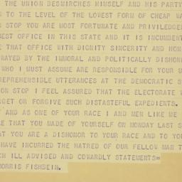 Telegram : 1940 October 3