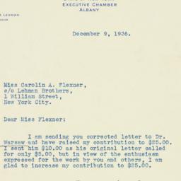 Letter : 1936 December 9