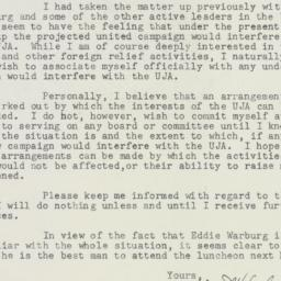 Letter : 1947 July 18