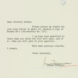 Letter : 1934 April 19