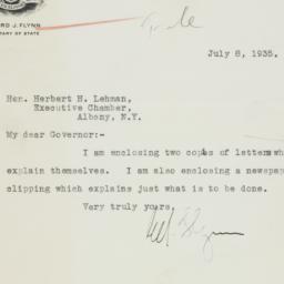 Letter: 1935 July 8
