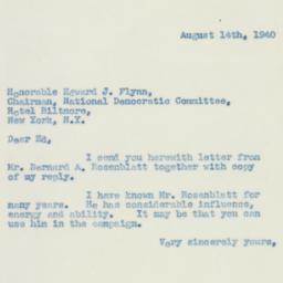 Letter : 1940 August 14