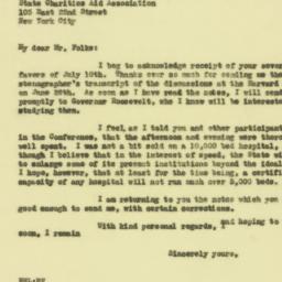 Letter : 1929 July 15