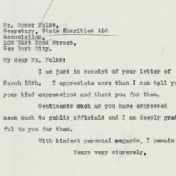 Letter : 1932 March 17