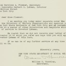Letter: 1932 November 25