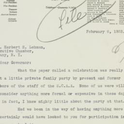 Letter: 1933 February 6