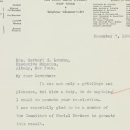 Letter : 1934 December 7