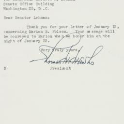 Letter : 1956 January 21