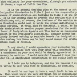 Letter : 1953 January 22