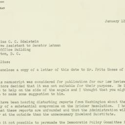 Letter : 1954 January 12