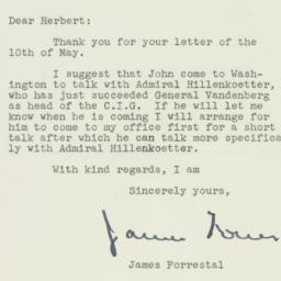 Letter : 1947 May 13