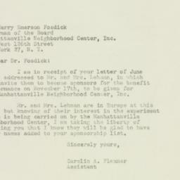 Letter : 1949 June 21