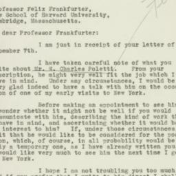 Letter: 1932 December 13