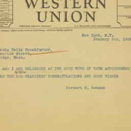Telegram: 1939 January 6
