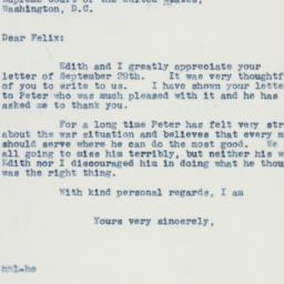 Letter: 1941 October 2