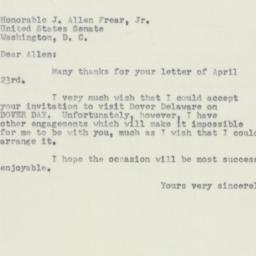 Letter : 1952 April 24