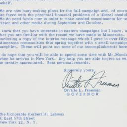 Letter : 1958 July 16