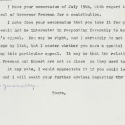 Letter : 1958 July 23
