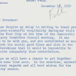Letter : 1959 December 18