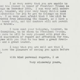 Letter : 1960 December 8