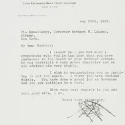 Letter : 1936 May 20