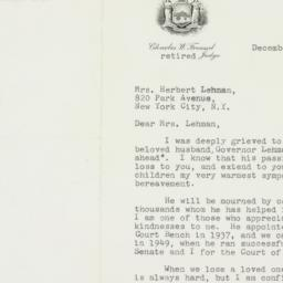 Letter : 1963 December 9