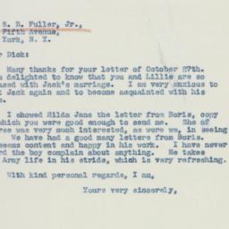 Letter : 1942 October 30