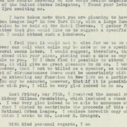Letter : 1951 May 28
