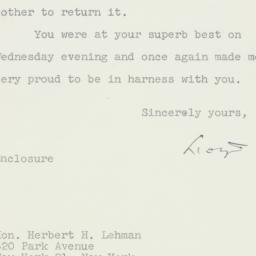 Letter : 1961 June 9