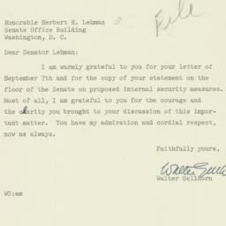 Letter : 1950 September 12