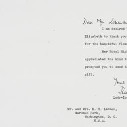 Letter : 1951 November 3