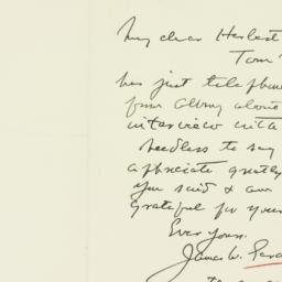 Letter: 1933 July 27