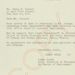 Letter : 1945 July 30