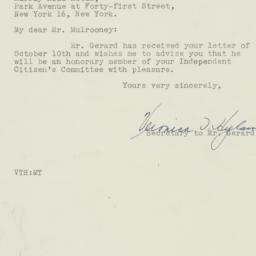 Letter : 1946 October 14