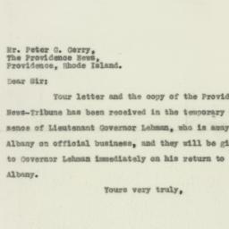 Letter : 1929 December 14