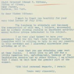 Letter : 1934 July 20