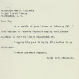 Letter: 1953 February 16