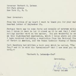 Letter : 1958 September 29