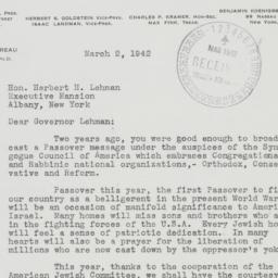 Letter : 1942 March 2