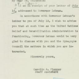 Letter : 1943 July 26