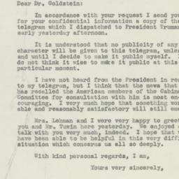 Letter : 1946 July 31