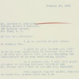 Letter : 1933 January 10