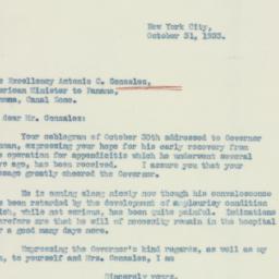 Letter : 1933 October 31