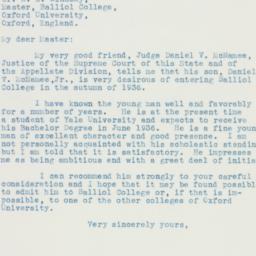 Letter : 1935 October 9