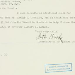 Telegram : 1949 November 1