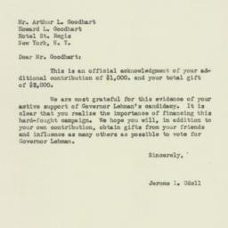 Letter : 1949 November 3